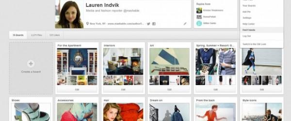 Pinterest évolue et revoit son design