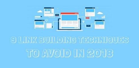 Infographie: 9 techniques de link building à éviter en 2018