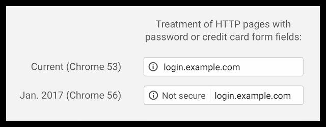 """Google Chrome: HTTP - """"non sécurisé"""""""
